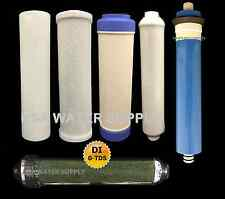 REVERSE OSMOSIS RO/DI 6 FILTERS/MEMBRANE REPLACEMENT 6 PC Set - 150 GPD Membrane