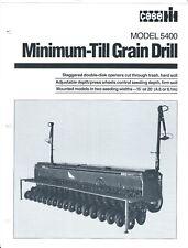Farm Implement Brochure - Case IH - 5400 - Minimum-Till Grain Drill  (F5991)