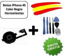 BOTON HOME FLEX IPHONE 4S NEGRO CON KIT HERRAMIENTAS.DESDE ESPAÑA