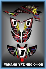 Yamaha YFZ450 03- Carb   SEMI CUSTOM GRAPHICS KIT STRIPER