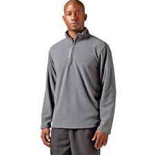 NEW $50 Men REEBOK Micro Fleece 1/4 Zip Delta Canton Training Jacket GRAY M