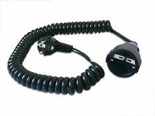 Schuko-Spiralverlängerung 2,5m schwarz