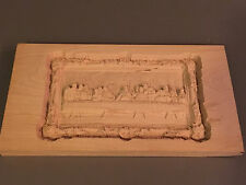 """Beautiful Last Supper Wood Carving Plaque 12""""x 6 1/2"""" One of a Kind"""