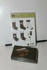 Stampin Up Retired Stamps Stitched Stockings & Build a Stocking Punch 7 pc