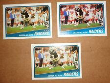 BO JACKSON--1988 TOPPS ROOKIE CARD--THREE CARDS--#325--MINT TO NEAR MINT--L@@K