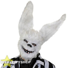 WHITE RABBIT MASK SCARY HALLOWEEN HORROR FANCY DRESS COSTUME EVIL BUNNY RABBIT