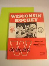 Wisconsin Badgers vs Michigan Tech Huskies 1989 Ncaa Hockey Program