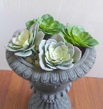 Two Colors Set of 4 Big # Snow Lotus Artificial Succulents