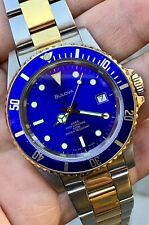 vintage diver Bulova professional 100.steel gold.automatic swiss-just serviced