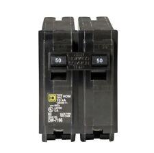 Square D 50 Amp 2 Pole Circuit Breaker Homeline Standard Trip Residential Hom250