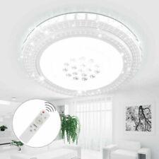 Rund 48W LED Deckenleuchte Kristall Wohnzimmer Flurleuchte Weiß/Dimmbar Lampe DE