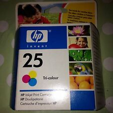 ORIGINAL HP Tri Colour 25 Inkjet Print Cartridge Printer Deskjet Deskwriter Etc