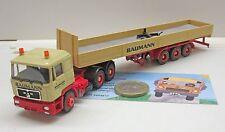 """BM0083;   MAN F 90   Pritschensattelzug """"Baumann"""""""
