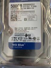 Western Digital Blue, 500GB, Internal, 5400RPM, Hard Drive, Sata, RPM 7200