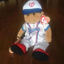 Ty Beanie Kids Rascal wearing the complete Baseball  Outfit  NWMT PE Pellets
