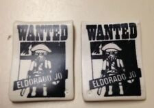 Playmobil Western Vintage Fort Bravo Wanted Sign Spare Part 3773 Lot Of 2
