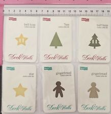 6 x QuicKutz  Dies - Deck The Halls - Stars, Christmas Trees, Gingerbread People