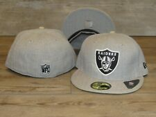 Oakland Raiders NE 59Fifty NFL Team Blitz Gray Fitted Hat Cap Men's Size 7 3/8