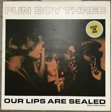 "FUN BOY THREE - Our Lips Are Sealed - 1983 UK 3-track 12"" Vinyl Single EX/EX"