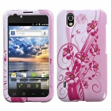 For Alltel LG Ignite, HARD Protector Case Snap on Phone Cover, Blooming Lily