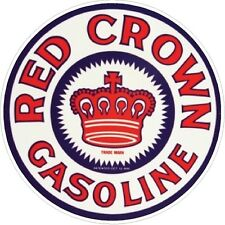 Red Crown Gasoline Vintage Window decal sticker NHRA Rat Rod Street Rod Hot Rod