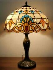 Tiffany Style Table Lamp Handcrafted Small Desk Light Shade Glass Stained Lamps