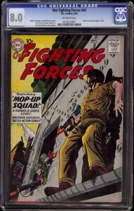 Our Fighting Forces # 45 CGC 8.0 Off-White (DC, 1959) Gunner & Sarge begins