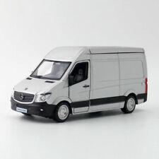 Sprinter Van Cargo 1:36 Model Car Diecast Gift Toy Vehicle Kids Pull Back Gray