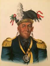 Wa-Baun-See A Pottawatimie 1836-44 From Indian Tribes McKenney Hall Lithograph
