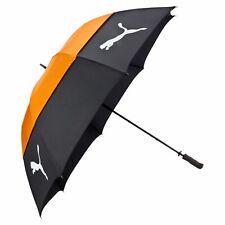 PUMA Double Canopy Umbrella Regenschirm Black-Vibrant Orange Schwarz Neu