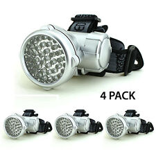 40 LED 4 Mode Adjustable Headlamp Light 3 AA Super Bright Wholesale Lot of 4 PCS