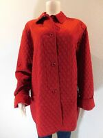 Woman's UD Utex Design Sz Lrg  Red Quilted Lined Jacket Coat Long Sleeve