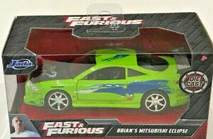 "JADA 1/32 FAST & FURIOUS BRIAN'S 1995 MITSUBISHI Eclipse Diecast car 5"" NEW"