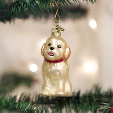 OLD WORLD CHRISTMAS COCKAPOO PUPPY DOG CHRISTMAS ORNAMENT 12440
