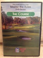 PGA TOUR PARTNERS CLUB MASTER THE RULES THE COURSE DVD! Golf Instructional! S18