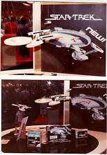 6 photos of STAR TREK & STAR WARS models at the ERTL booth at the 1983 TOY FAIR