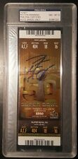 Peyton Manning SUPER BOWL 50 SIGNED AUTOGRAPHED TICKET STUB STEINER PSA/DNA
