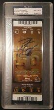 Peyton Manning SUPER BOWL 50 SIGNED AUTOGRAPHED TICKET STUB STEINER PSA/DNA