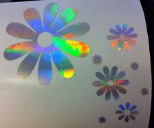 Rainbow Holographic Flowers Flower Power Daisy Car Sticker Decal Vinyl 2001-2003
