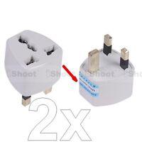 2 US USA EU Europe AU- UK United Kingdom AC Power Plug Adapter Travel Converter
