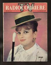 RADIOCORRIERE 25/1962 MILVA BERTERO KOSMA ZWORYKIN DE AMICIS CAMPANILE SERA