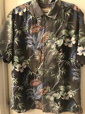 Tommy Bahama Original Fit Mens 100% Silk White SS Shirt Hawaiian Palm Floral 2XL