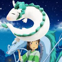 Spirited Away White Dragon Haku Anime U-Shape Neck Pillow Plush Doll Toys Travel