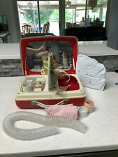 Vintage SEARS DELUXE BONNET PORTABLE SUITCASE HAIR DRYER & NAIL DRYER MUST SEE