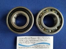 Upper Wheel Shaft Ball Bearings For Biro Saw 11 22 33 1433 3334 - Sold in Pairs