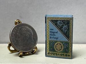 Vintage Artisan WERTZ 1000 Herbs & Fungi Book Dollhouse Miniature 1:12