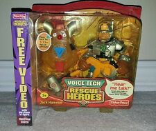Rescue Heroes Voice Tech Jack Hammer Fisher Price Talking Toy + VHS Movie NEW