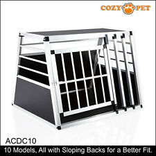 Aluminium Car Dog Cage Cozy Pet Travel Puppy Crate Pet Carrier Transport ACDC10