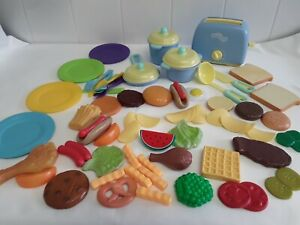 Childrens Pretend Play Toy Food Pots & Pans Toy Toaster Bundle