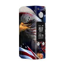 Skin Decal for Wismec Rx200S Vape Mod / Usa Bald Eagle in Flag